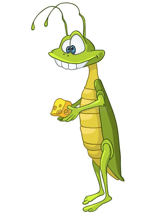 Locusta del personaggio dei cartoni animati royalty illustrazione gratis