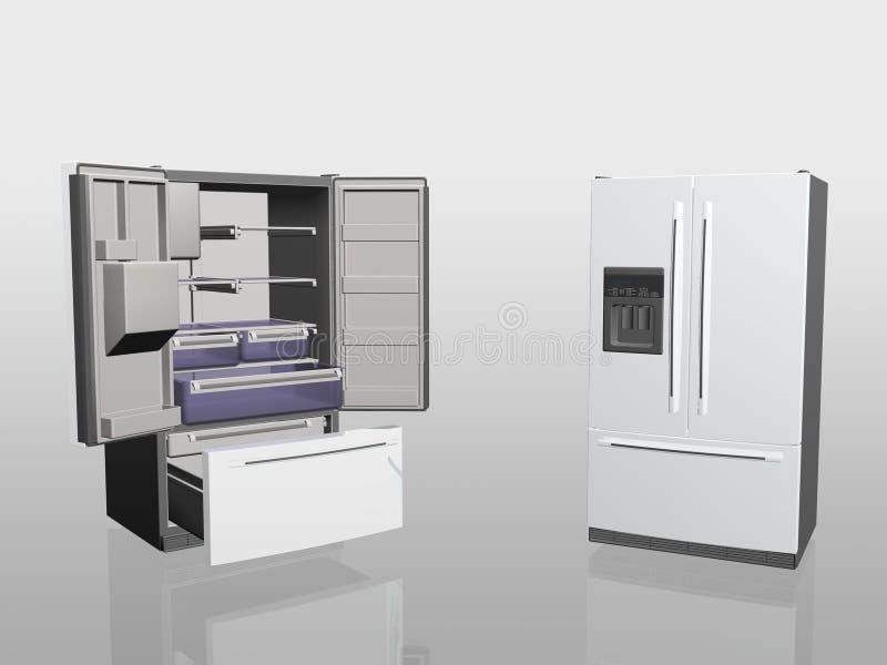 lodówka urządzenia gospodarstwa domowego ilustracja wektor