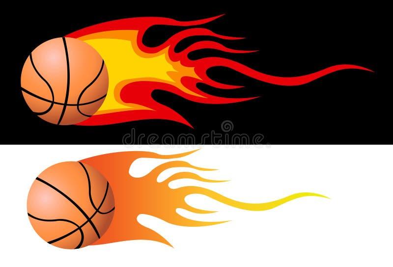 Lodernder Basketball vektor abbildung