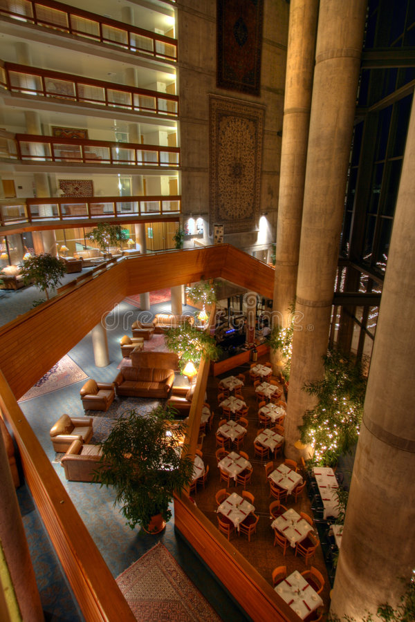 Lodge Atrium Overlook Stock Image