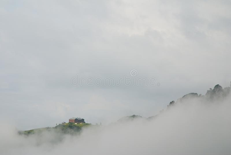Lodge In Clouds Stock Image