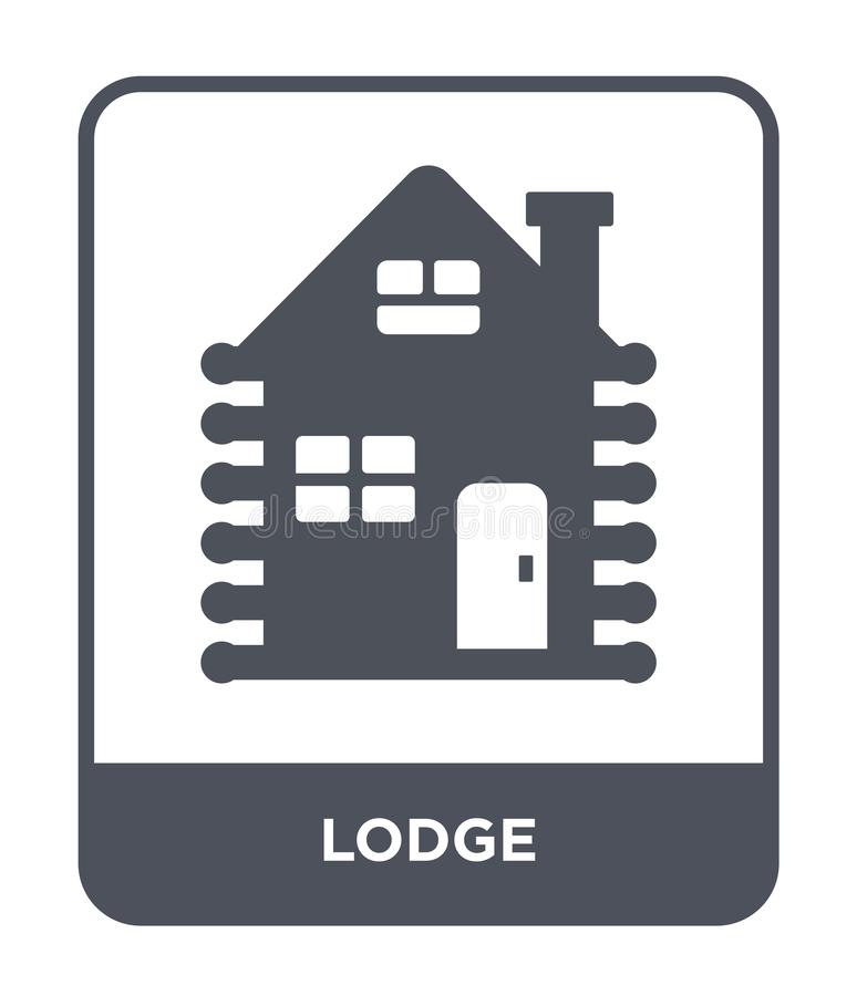 Lodge icon in trendy design style. lodge icon isolated on white background. lodge vector icon simple and modern flat symbol for. Web site, mobile, logo, app, UI stock illustration