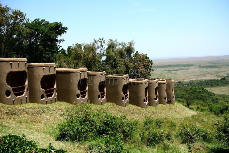 Lodge, Maasai Mara Game Reserve, Kenya. Serena Lodge in Maasai Mara Game Reserve, Kenya stock photo