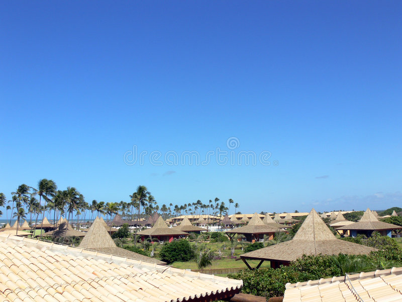 Lodges in hotel complex