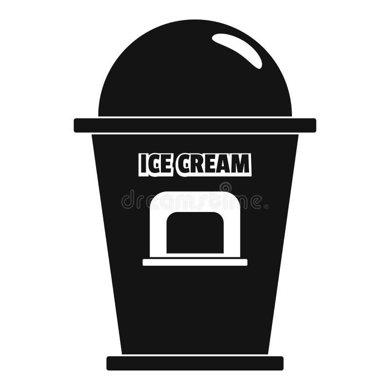 Lodowa creme handlowego punktu ikona, prosty styl ilustracja wektor