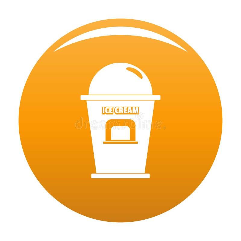 Lodowa creme handlowego punktu ikony wektoru pomarańcze ilustracji