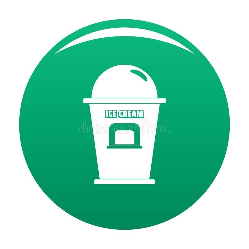 Lodowa creme handlowego punktu ikony wektoru zieleń ilustracji