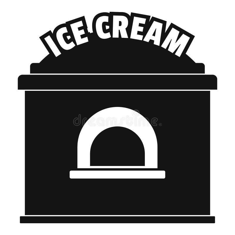 Lodowa creme handlu ikona, prosty styl ilustracji