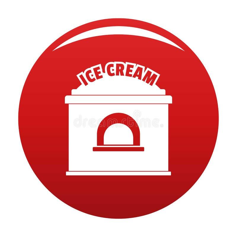 Lodowa creme handlu ikony wektoru czerwień royalty ilustracja