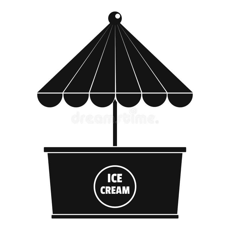 Lodowa creme ikona, prosty styl royalty ilustracja