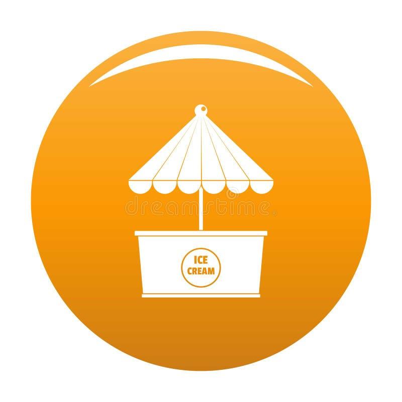 Lodowa creme ikony pomarańcze ilustracji