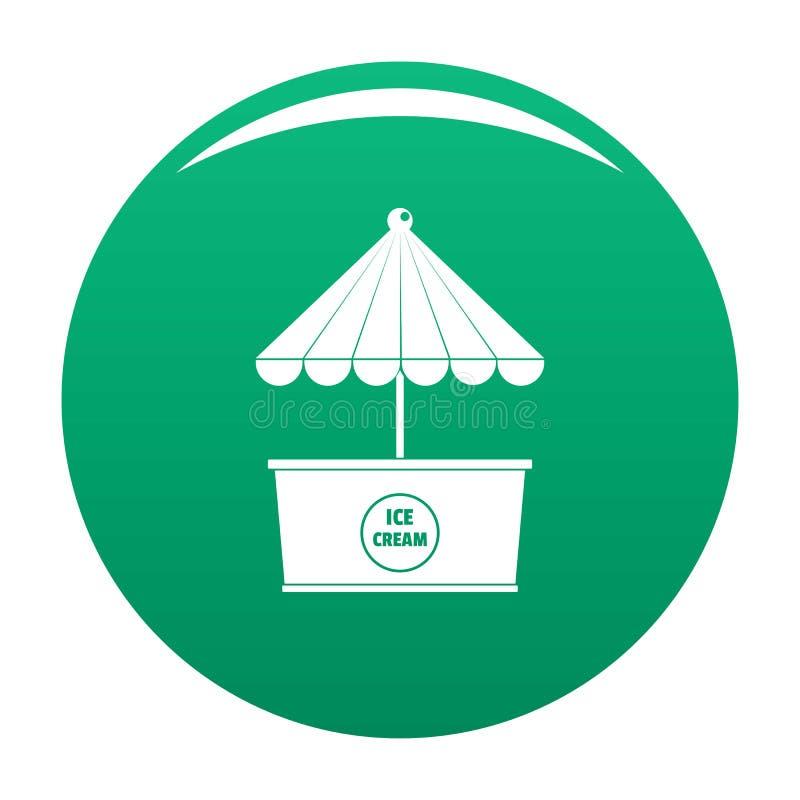 Lodowa creme ikony wektoru zieleń ilustracji