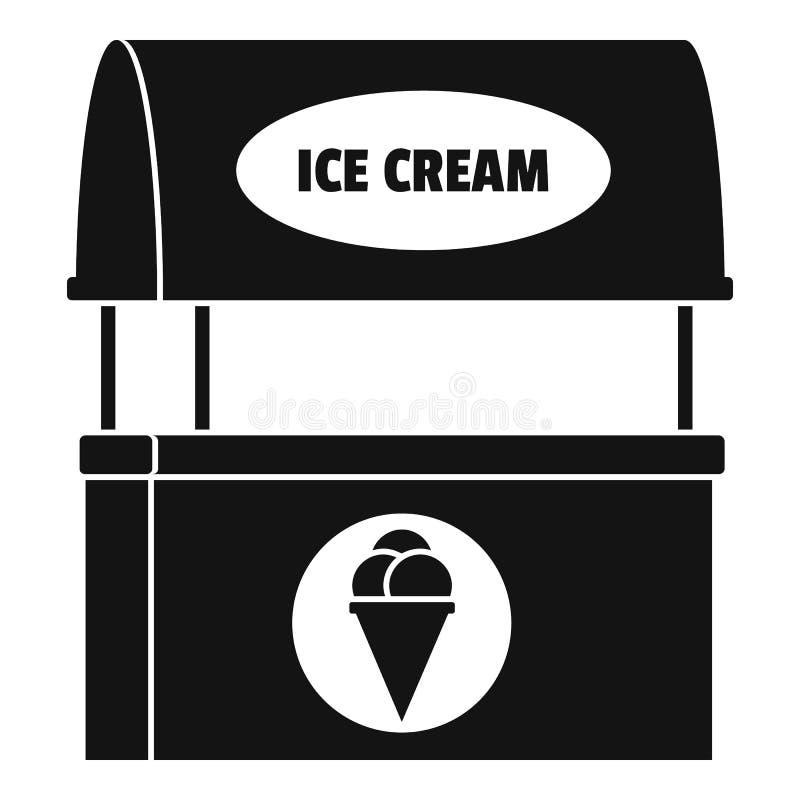 Lodowa creme sprzedawania ikona, prosty styl ilustracji