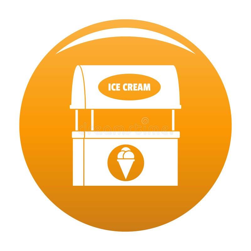 Lodowa creme sprzedawania ikony pomarańcze ilustracji