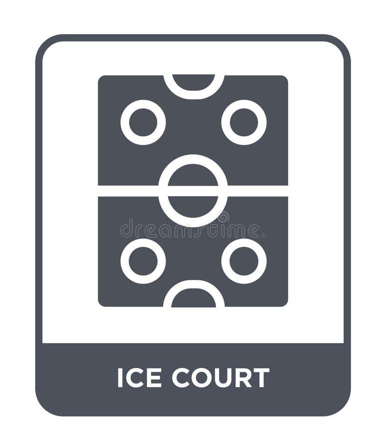 lodowa dworska ikona w modnym projekta stylu lodowa dworska ikona odizolowywająca na białym tle lodowej dworskiej wektorowej ikon ilustracji