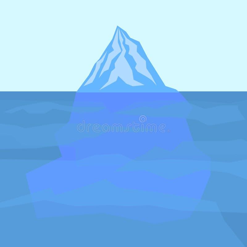 Lodowa góra lodowa royalty ilustracja