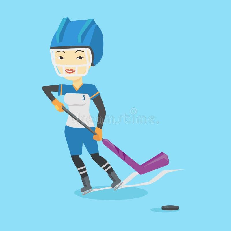 Lodowa gracz w hokeja wektoru ilustracja ilustracji