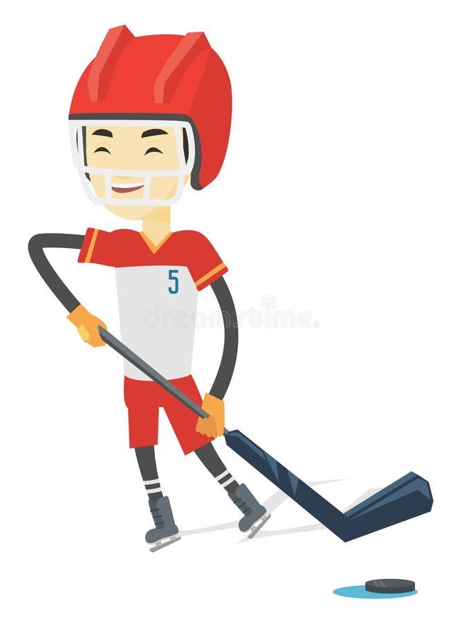 Lodowa gracz w hokeja wektoru ilustracja royalty ilustracja