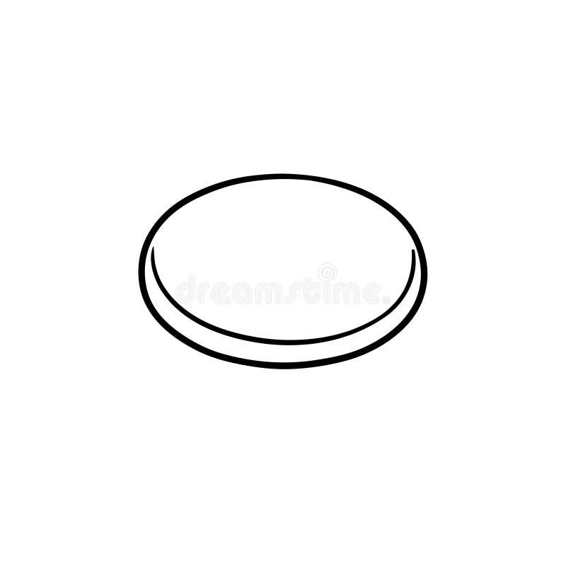 Lodowa hokejowego krążka hokojowego konturu doodle ręka rysująca ikona ilustracja wektor