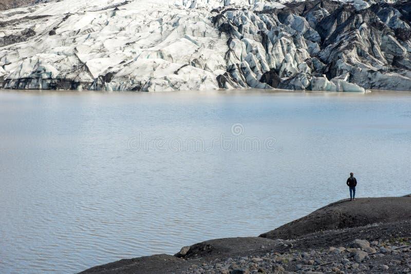 lodowa Iceland solheimajokull zdjęcie stock