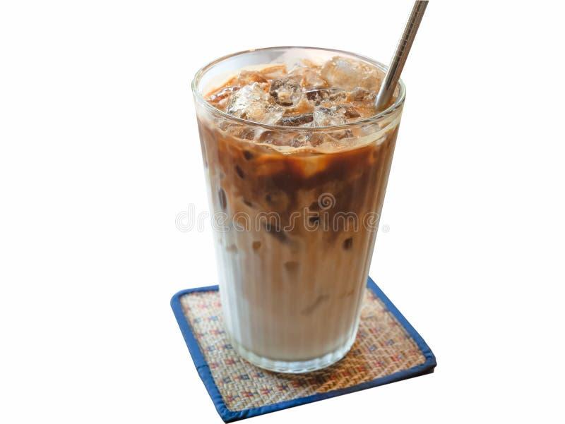Lodowa kawa odizolowywająca na matowym tle zdjęcia stock