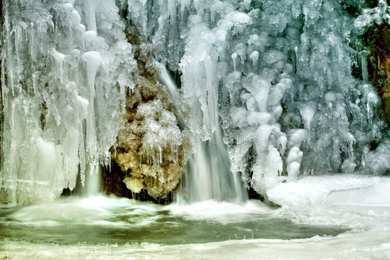 lodowa mała igielna siklawa obrazy royalty free