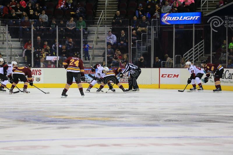 Lodowa mecz hokeja przerwa obrazy royalty free