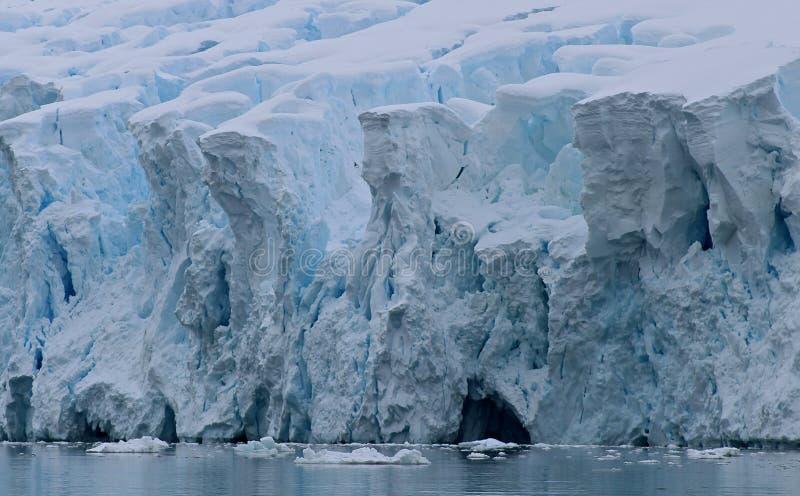 Lodowa ` s krawędź - Antarctica obraz stock