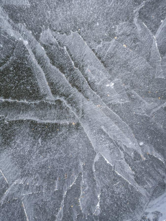 Lodowa tekstura, zimy tło obraz royalty free