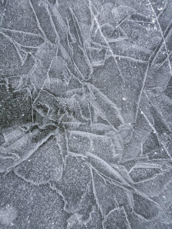 Lodowa tekstura, zimy tło fotografia stock