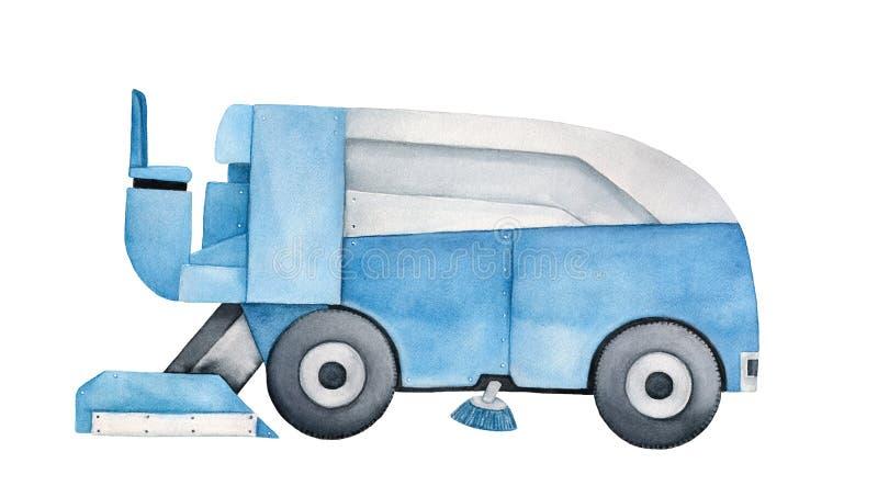 Lodowa wynurza się maszyna czyścić lodowego lodowisko ilustracji