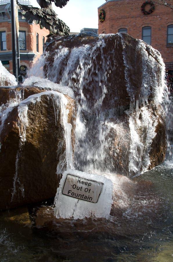 lodowata fontanna zdjęcia royalty free