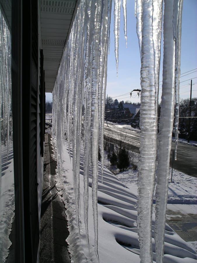 lodowaty dach zdjęcia royalty free
