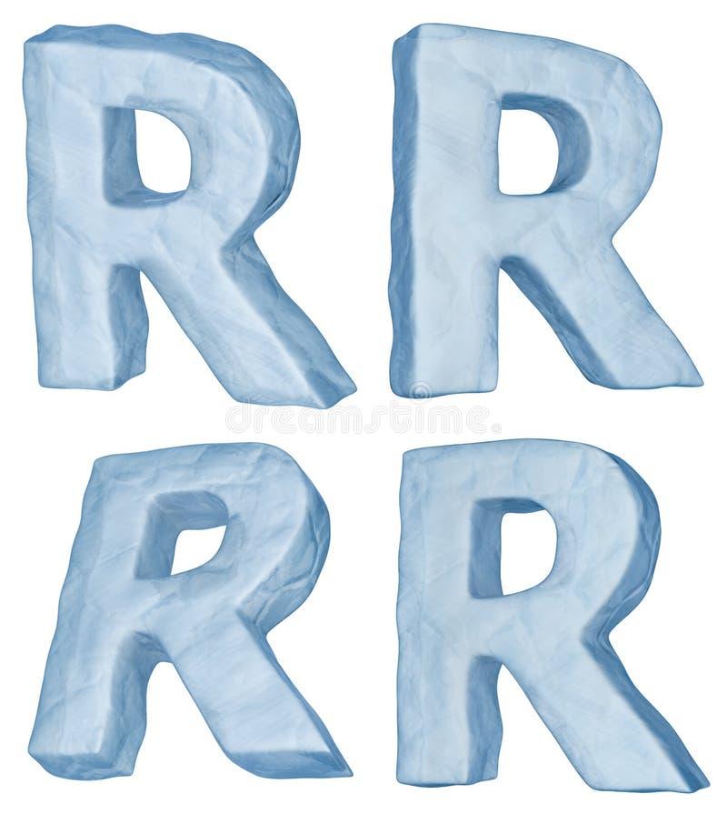 lodowaty list r ilustracja wektor