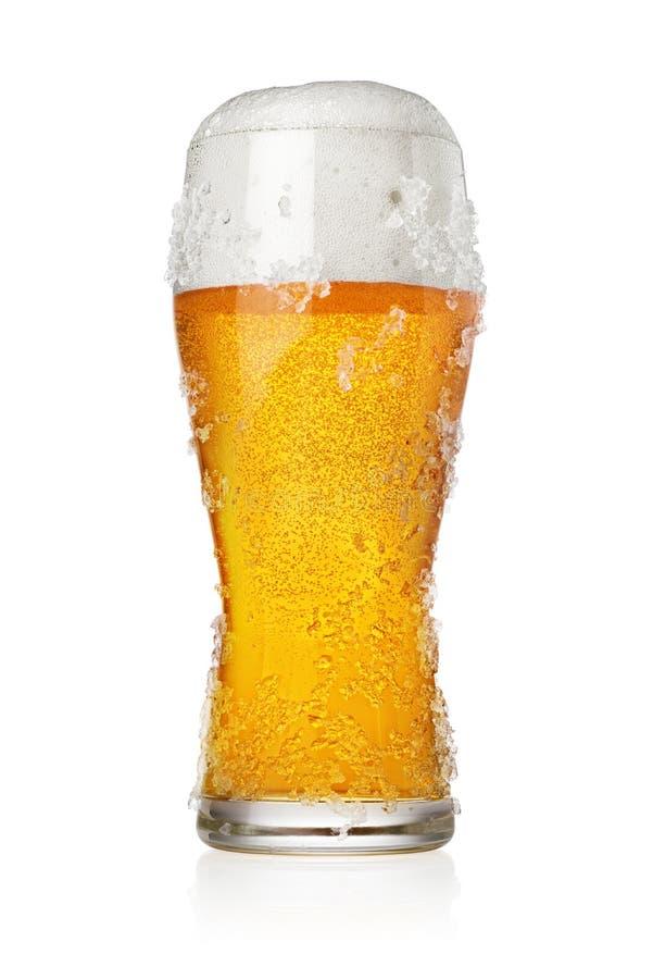 Lodowaty mroźny pół kwarty piwo obraz royalty free