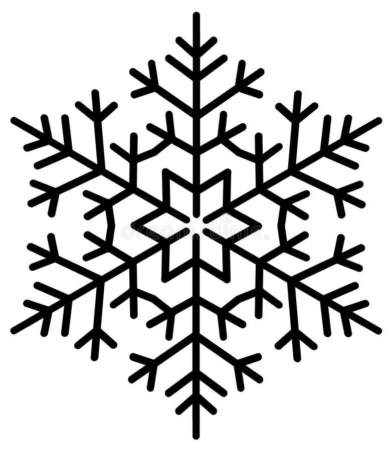 lodowaty płatek śniegu ilustracji