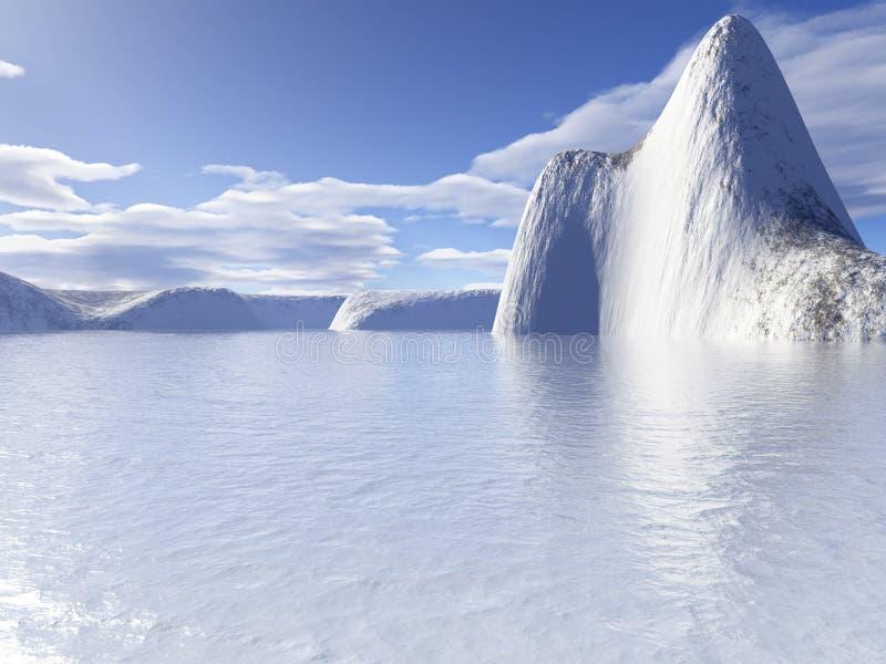 lodowaty wody ilustracja wektor