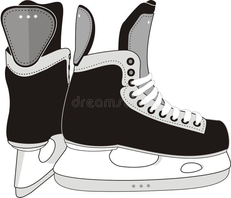 lodowe hokej łyżwy ilustracja wektor