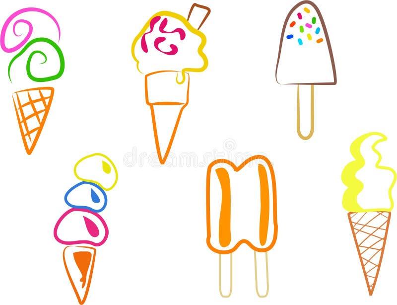 lodowe ikony ilustracja wektor