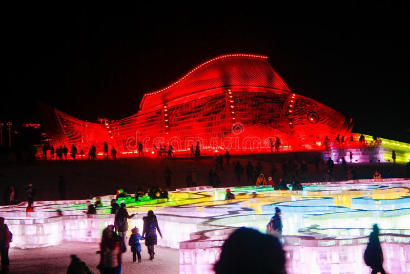 lodowe rzeźby zdjęcie royalty free