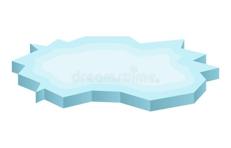 Lodowego floe ikona, symbol, projekt Zimy wektorowa ilustracja na białym tle ilustracja wektor
