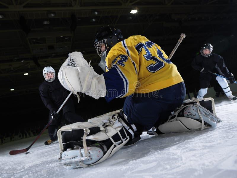 Lodowego hokeja bramkarz fotografia stock