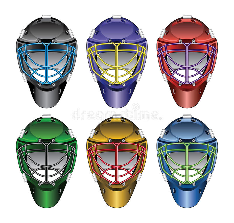 Lodowego hokeja bramkarza maski ilustracja wektor
