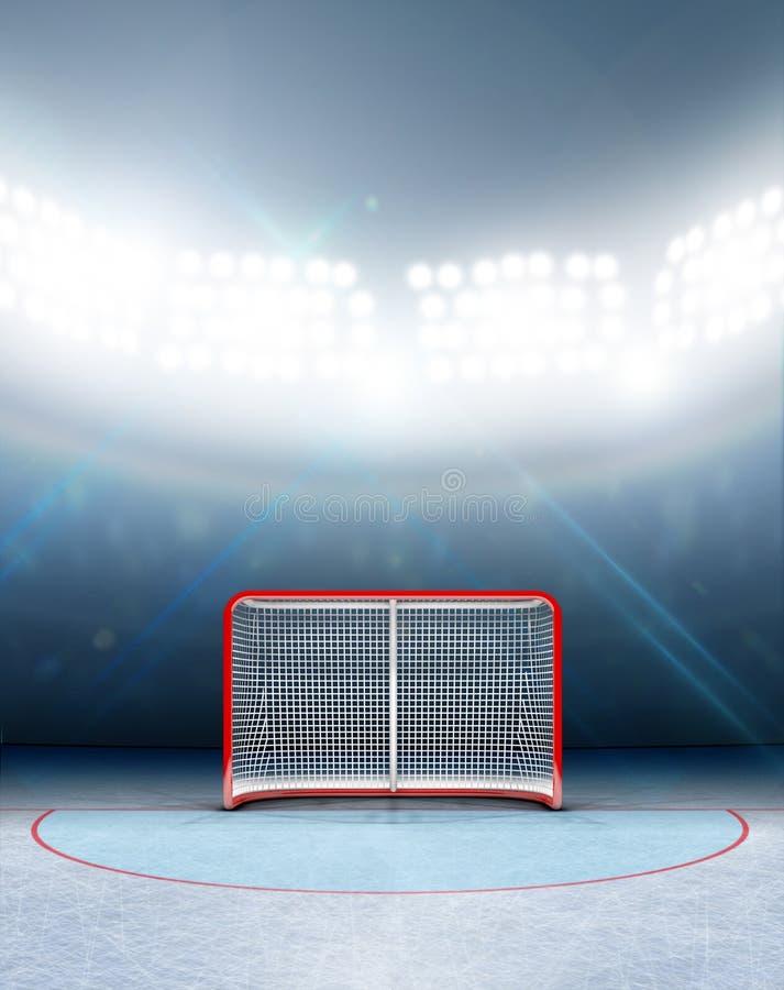 Lodowego hokeja cele W stadium royalty ilustracja