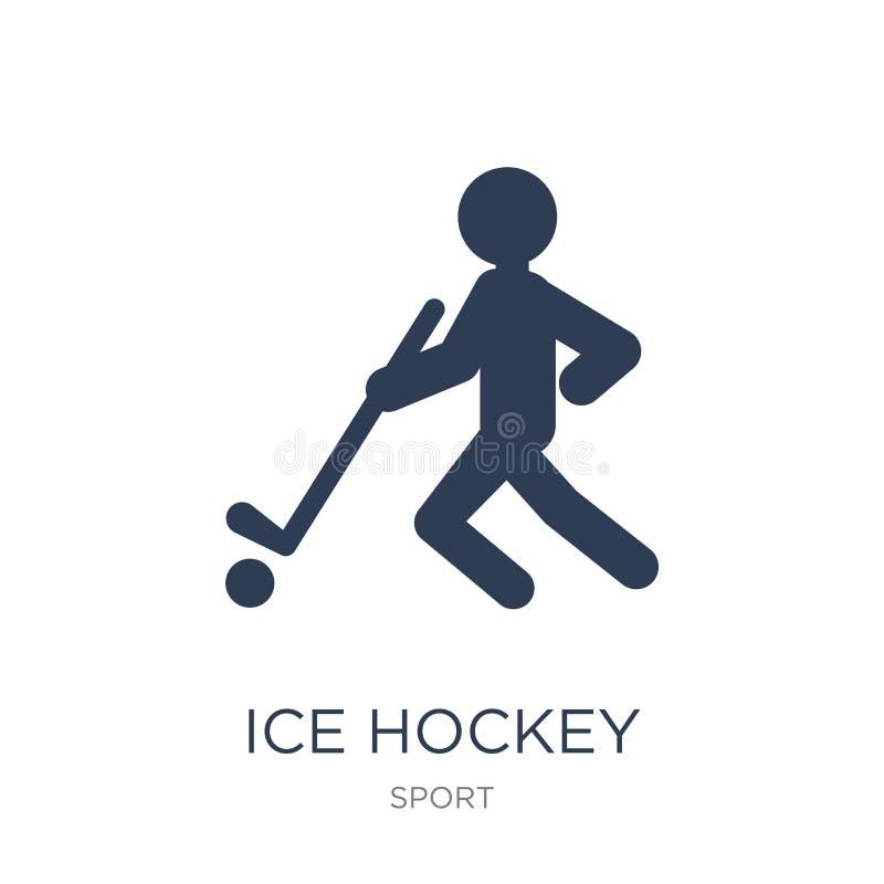 Lodowego hokeja ikona Modna płaska wektorowa hokej na lodzie ikona na białym bac ilustracja wektor