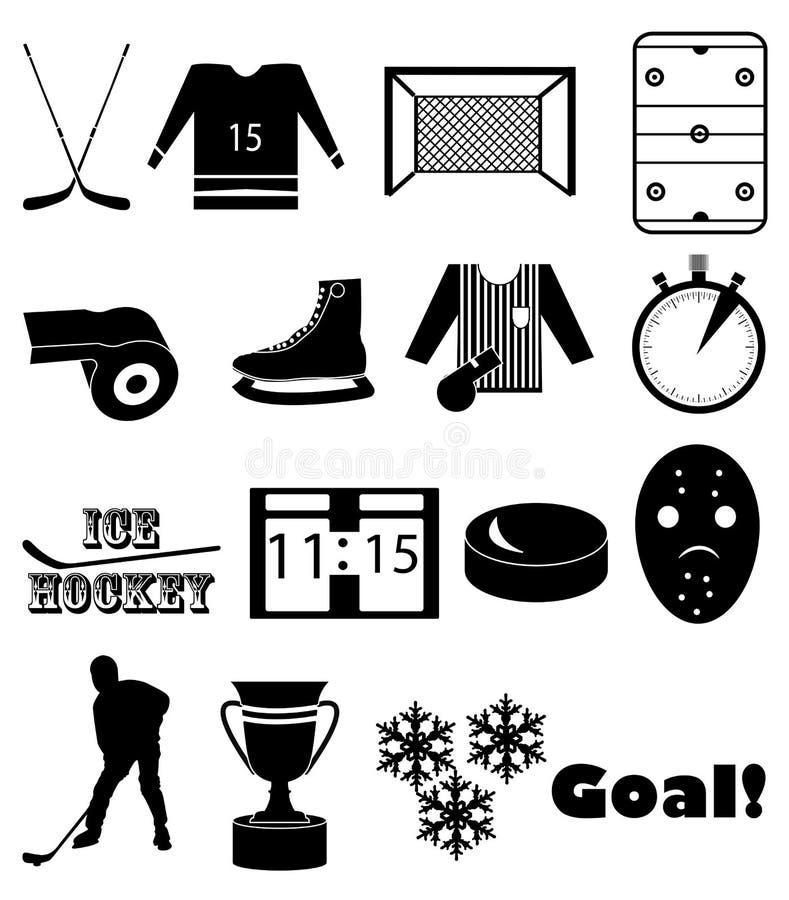Lodowego hokeja ikony ustawiać ilustracji