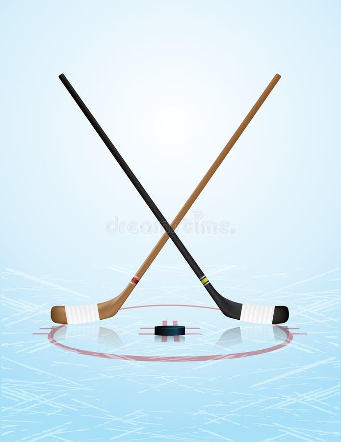 Lodowego hokeja ilustracja royalty ilustracja