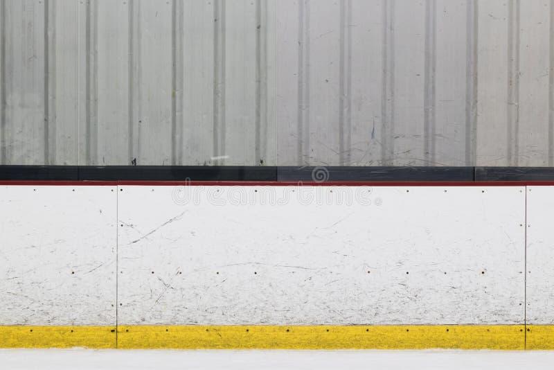 Lodowego hokeja lodowiska deska zdjęcia stock