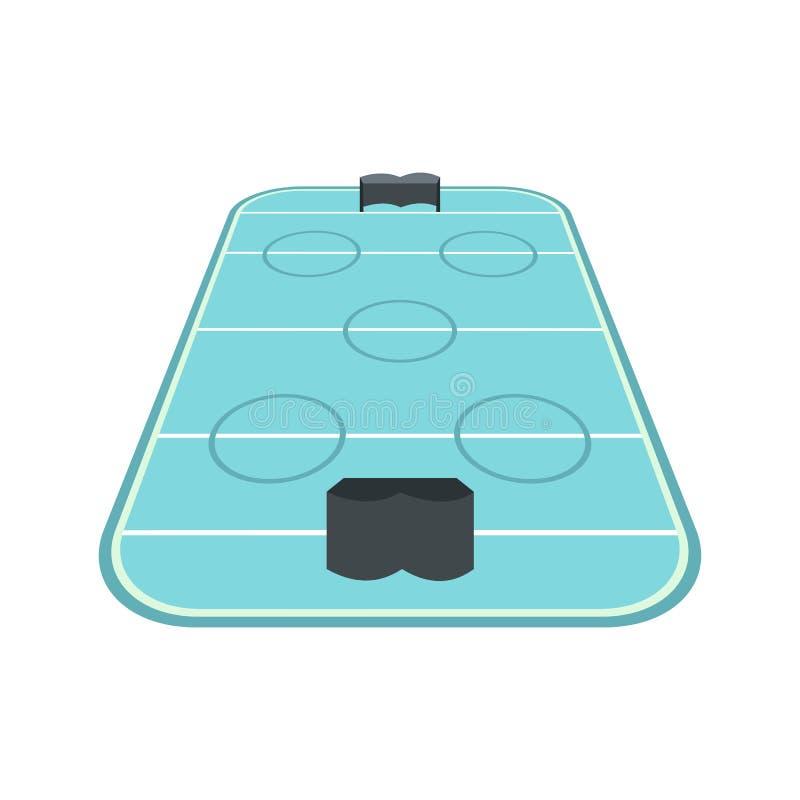 Lodowego hokeja lodowiska ikona ilustracja wektor