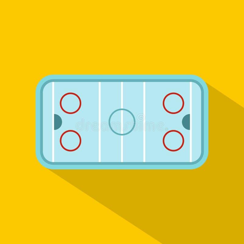 Lodowego hokeja lodowiska ikona, mieszkanie styl ilustracji